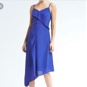 Strappy Asymmetrical Foldover Dress